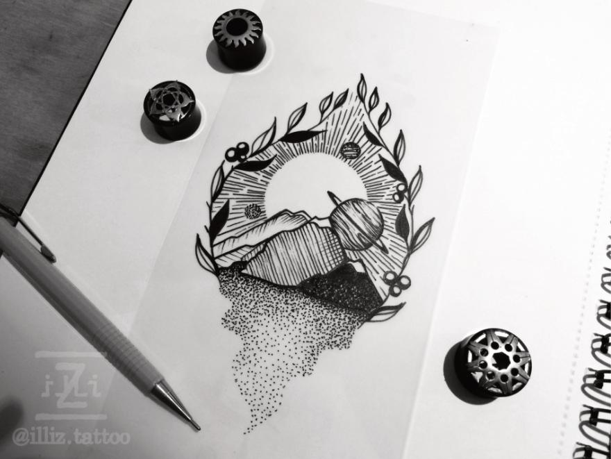 landscape-space-tattoo-design-dotwork-WS-880