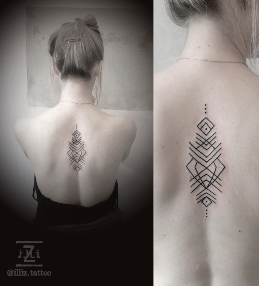 mandala-tattoo-by-illiz-tattoodesign-mallorca-hamburg-tattooartist-linework-ruecken-backtattoo