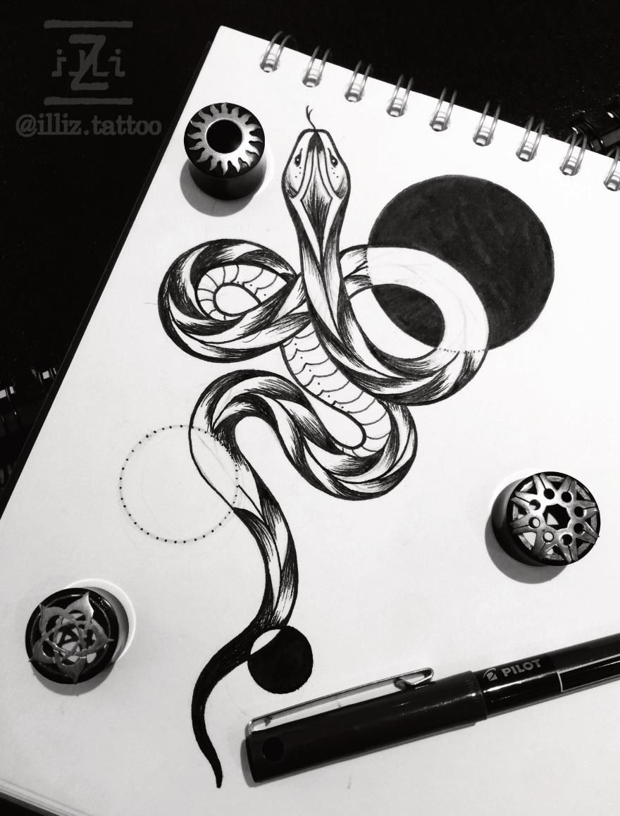 snake-tattoo-design-by-illiz-tattooartist-mallorca-hamburg-beautiful